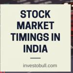 stock market timing india