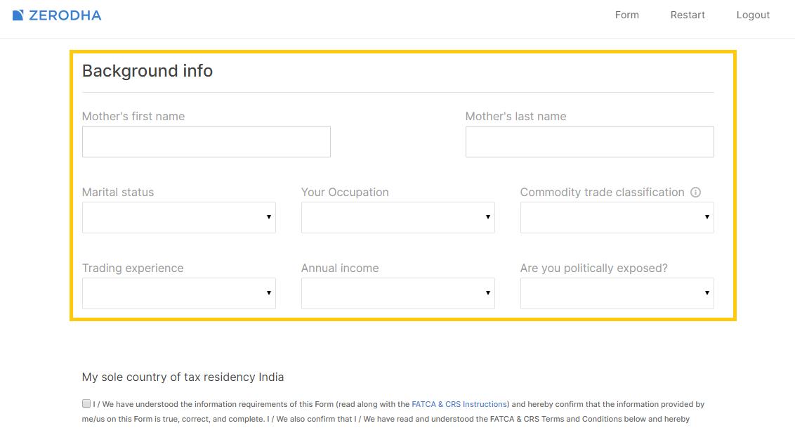 how to open zerodha account online